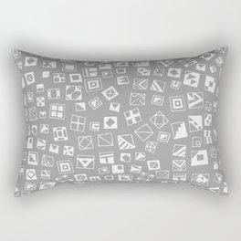 Grey Squares Rectangular Pillow