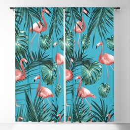 Tropical Flamingo Pattern #8 #tropical #decor #art #society6 Blackout Curtain