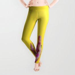 Yellow Paint Hands (Color) Leggings