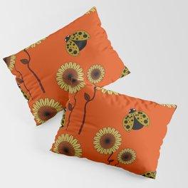 Sunflowers and ladybirds Pillow Sham