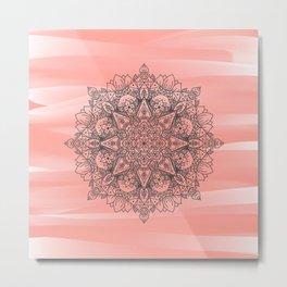 Coral Mandala Metal Print