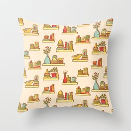 Interior shelves Throw Pillow