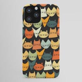 Jelly Cats Hand Drawn Vintage Dark iPhone Case