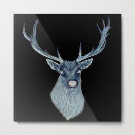 Inverted Deer | Abstract Deer drawing Metal Print