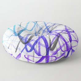 Expressive and Spontaneous Abstract Marker Floor Pillow