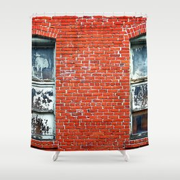 Old Windows Bricks Shower Curtain