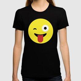 Tongue Out Emoji / Smiley T-shirt