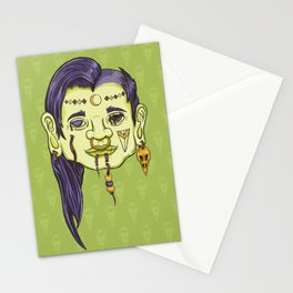 Shrunken Head Stationery Cards