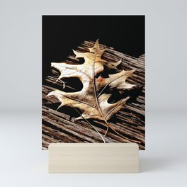Burnished Gold in Winter Mini Art Print