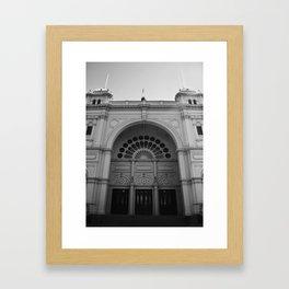 Melbourne monochrome x Framed Art Print