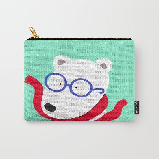 Hipster Polar Bear Carry-All Pouch