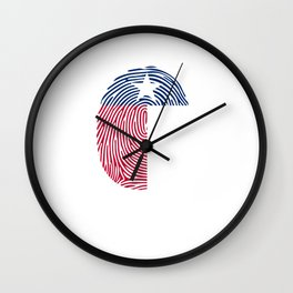 Texas Its In My DNA Fingerprint Wall Clock