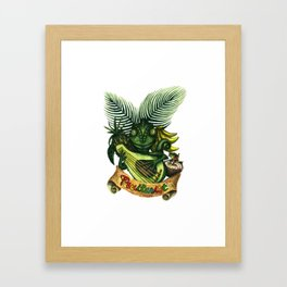 Left-handed Fruitarist Framed Art Print