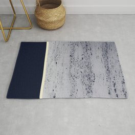 Navy Blue Pale Yellow on Navy Blue Concrete #1 #decor #art #society6 Rug