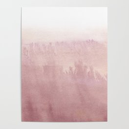 Modern creative blush pink watercolor ombre Poster