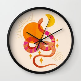 Abstraction_SUN_MOON_SNAKE_Minimalism_001 Wall Clock