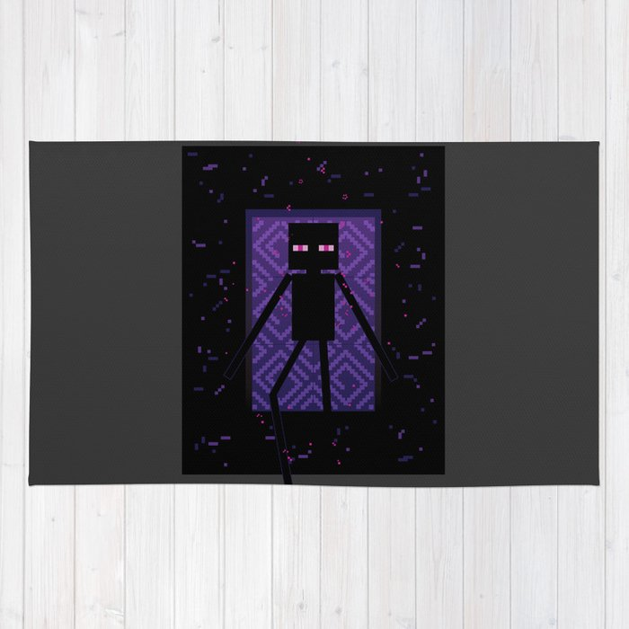 Here comes the Enderman! Rug