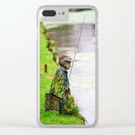 Gone Fishing Clear iPhone Case