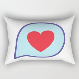 Valentine heart text balloon Rectangular Pillow