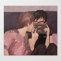 danisnotonfire Canvas Prints featuring DAN AND PHIL GAMES by Alliandoalice