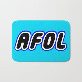 AFOL in Brick Font Logo Design [Alternate Colors] by Chillee Wilson Bath Mat