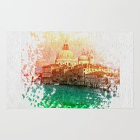 venice Area & Throw Rugs featuring Venice by GingerRogers