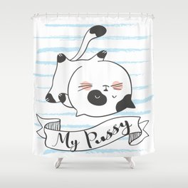 My Pussy Cat Shower Curtain