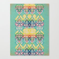 Diamonds CMYK Canvas Print