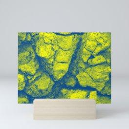 Abstract - in yellow & green Mini Art Print