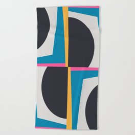 Modern Geometric 65 Blue Beach Towel