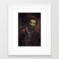 daryl Framed Art Prints featuring Daryl Dixon by Sirenphotos