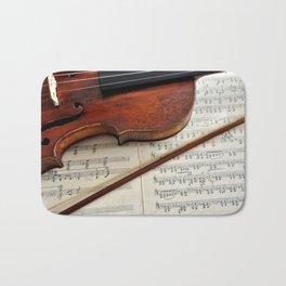 Old violin Bath Mat