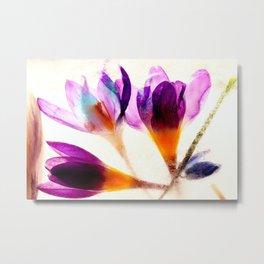 Frozen Flowers 1 Metal Print