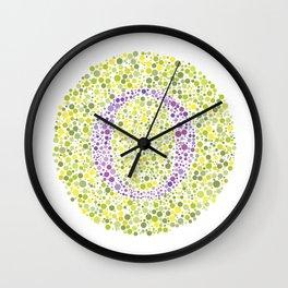 """O"" Eye Test Letter Circle Wall Clock"