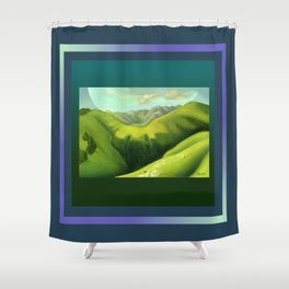 Mustering at the End of the Farm Shower Curtain