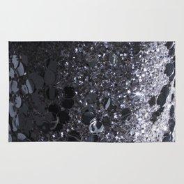 Black and Gray Glitter Bomb Rug
