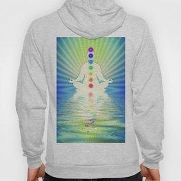 In Meditation With Chakras - Blue Ocean Hoody