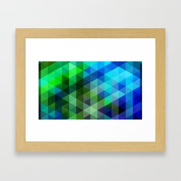 Blue & Green Geo Framed Art Print