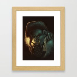 The look of an animal Framed Art Print