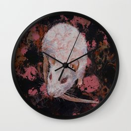 White Rat Wall Clock
