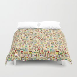 """""""Proud To Be A Nurse"""" Pattern Duvet Cover"""