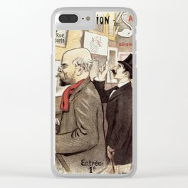 December 1894 7th Salon des 100 Art Expo Paris France Clear iPhone Case
