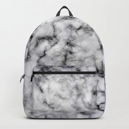 Grey and Black Veined Faux Marble Repeat Backpack