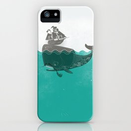 Belly of the Whale - Hipster Edition (with pirates) iPhone Case