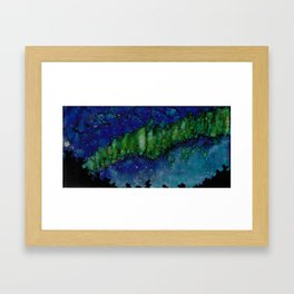 Green ribbons Framed Art Print