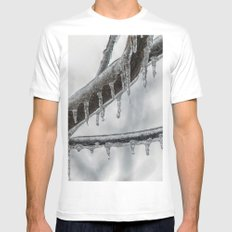 Icy Branch MEDIUM White Mens Fitted Tee