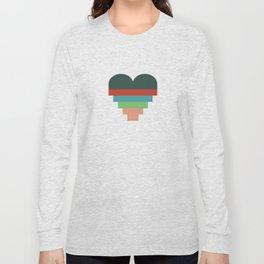 heart geometry Long Sleeve T-shirt