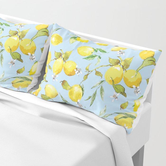 Watercolor lemons 10 Pillow Sham