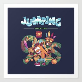 Jumping Since The 90s Art Print