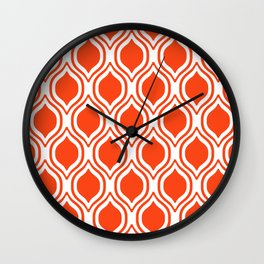 Ogee Florida University silhouette orange and blue pattern sports football college gators gator fan Wall Clock